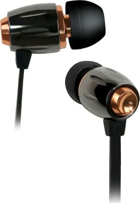 Image of Bell'O Digital High Performance Stereo Earbuds Apple, Black Chrome and Copper - Bell'O Digital Electronics