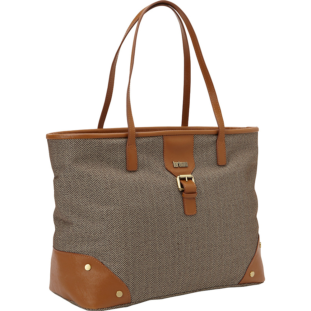 Hartmann Luggage Herringbone Luxe Softside Shoulder Bag TerraCotta Herringbone Hartmann Luggage Rolling Duffels
