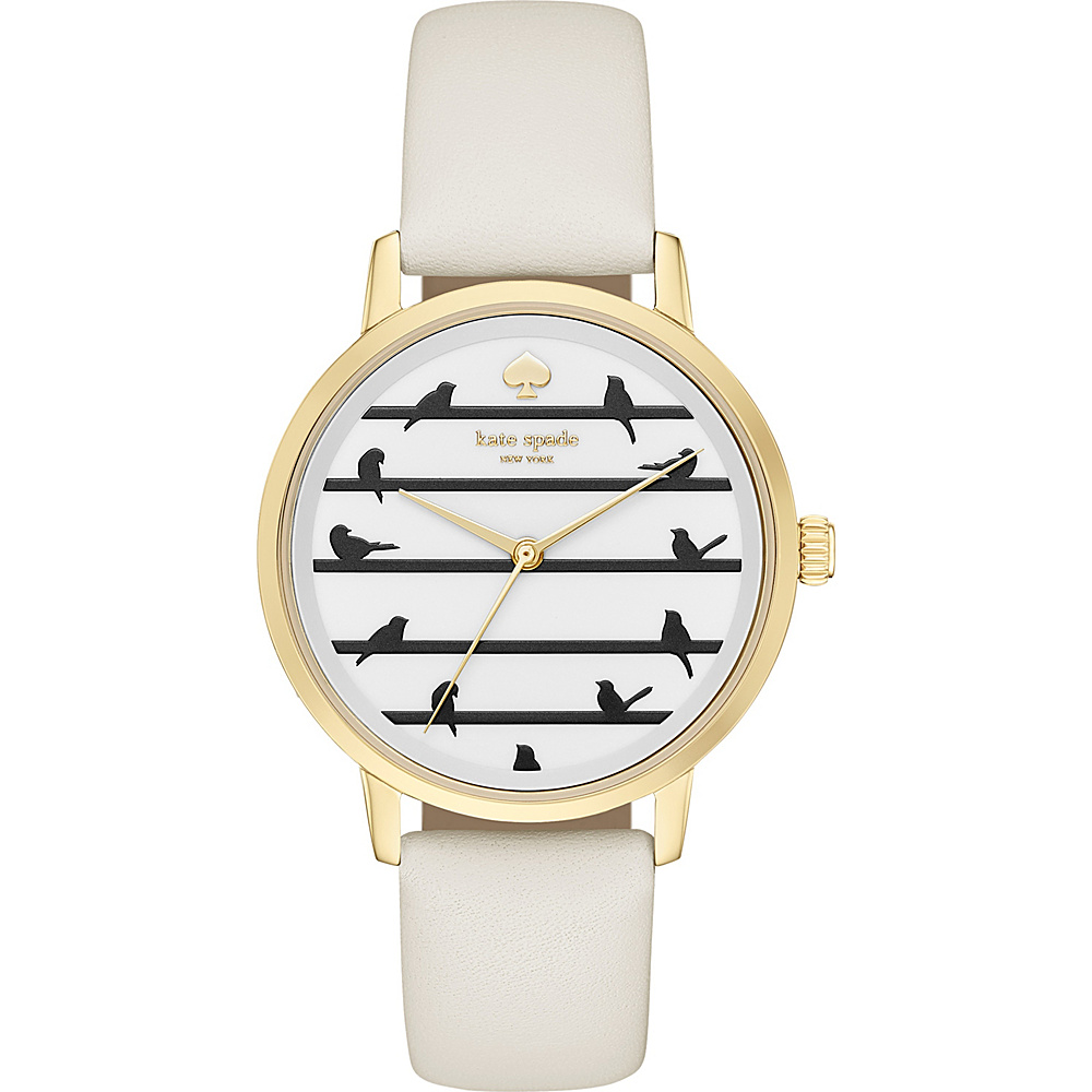 kate spade watches Leather Metro Watch White kate spade watches Watches