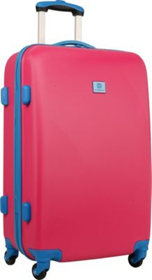 Anne Klein Luggage Palm Springs 24 inch Hardside Spinner Pink/Blue - Anne Klein Luggage Hardside Checked