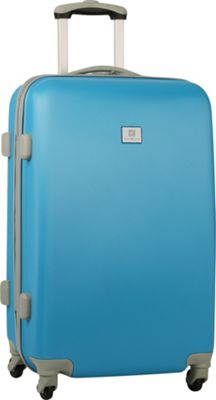 Anne Klein Luggage Palm Springs 24 inch Hardside Spinner Turquoise - Anne Klein Luggage Hardside Checked