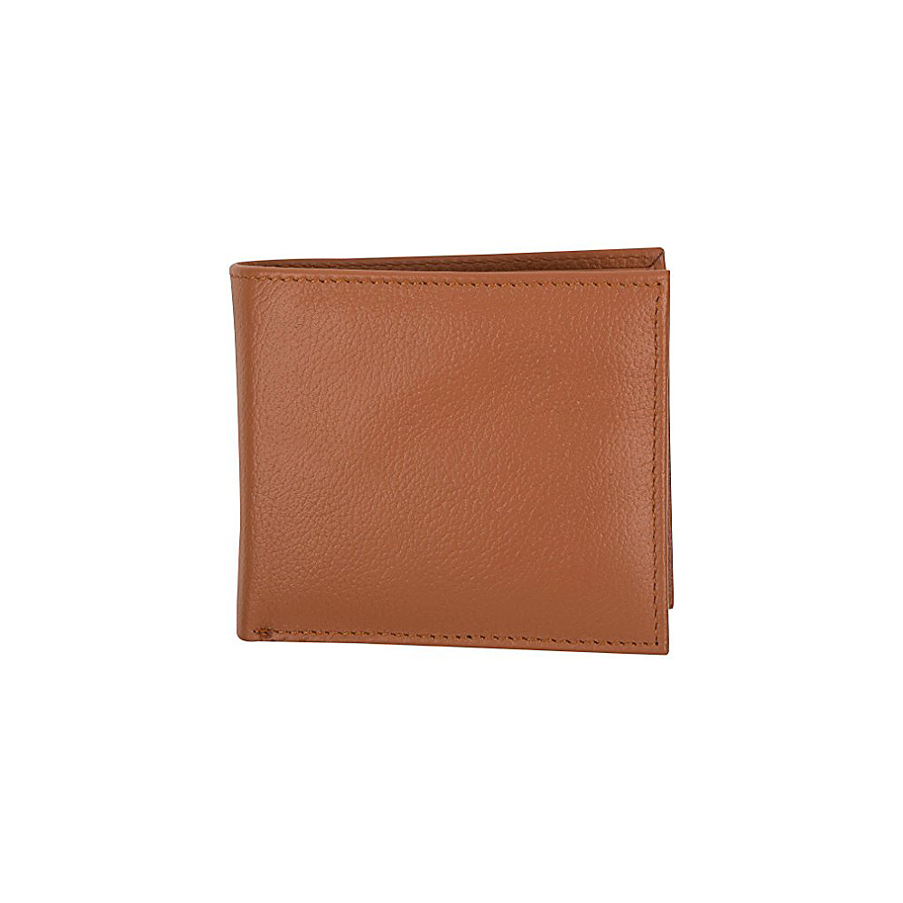 Access Denied Men s RFID Blocking Leather Wallet Bifold 11 Slot Secure Flip ID Saddle Tan Access Denied Men s Wallets