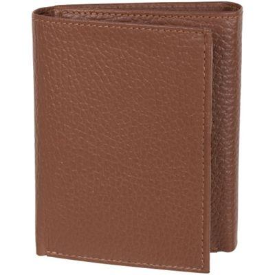 Access Denied Men's RFID Trifold Wallet Secure ID Genuine Leather Tan Pebble - Access Denied Men's Wallets