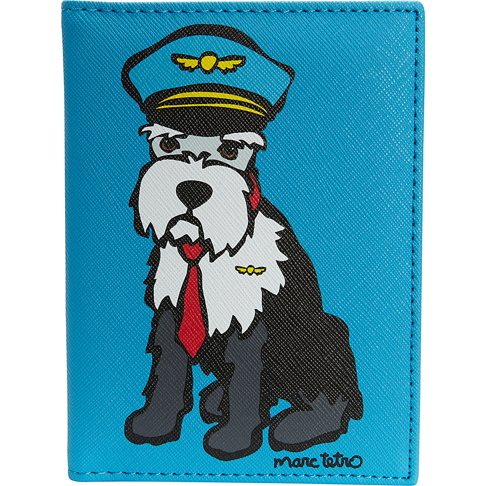 marc tetro Passport Case Schnauzer - marc tetro Travel Wallets