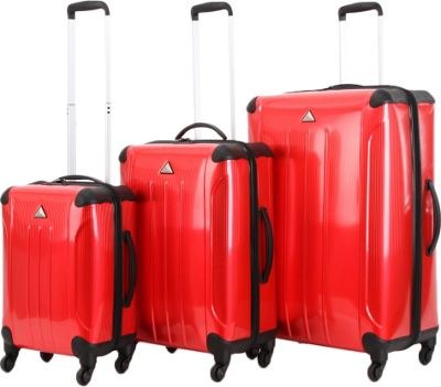 Triforce Apex 102 Collection Hardside 3-piece Spinner Luggage Set Red - Triforce Luggage Sets