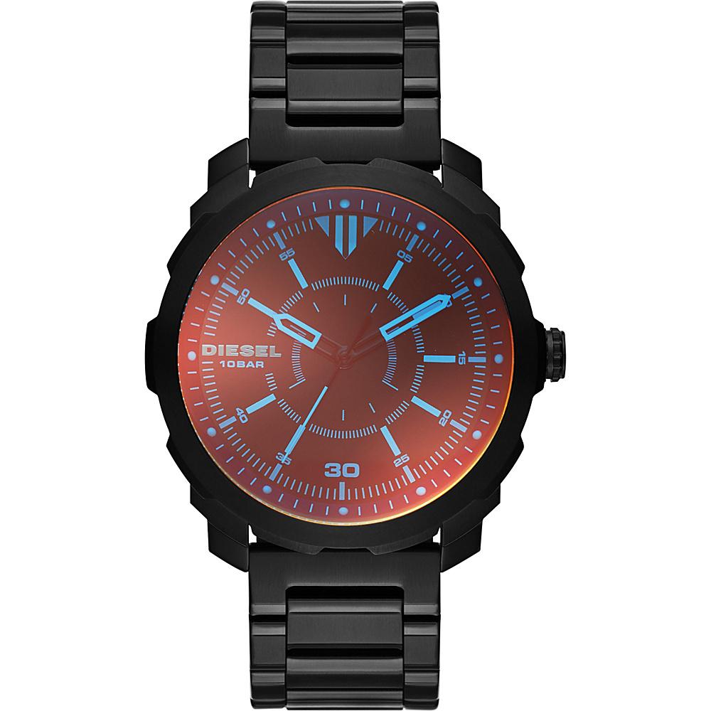 Diesel Watches Machinus NSBB Three Hand Stainless Steel Watch Black - Diesel Watches Watches