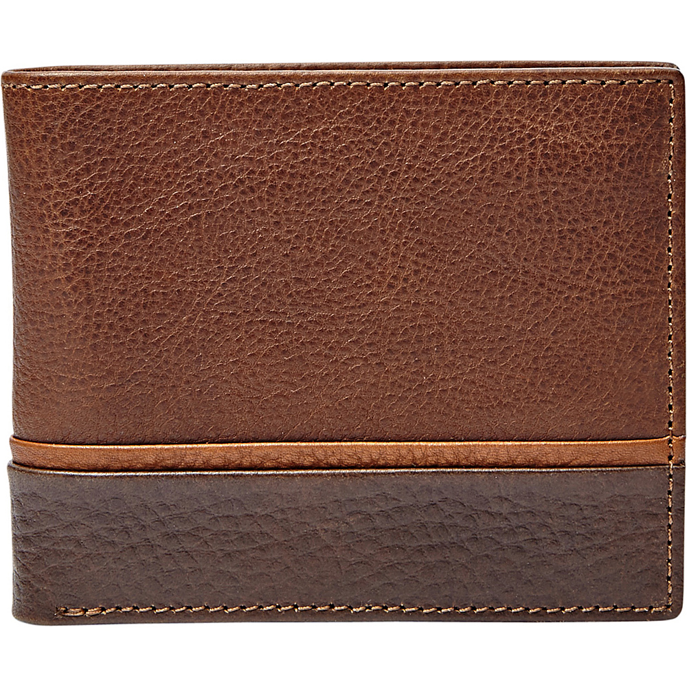 Fossil Ian Flip ID Bifold Brown - Fossil Mens Wallets - Work Bags & Briefcases, Men's Wallets