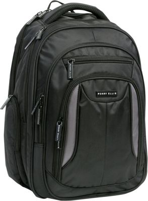 Perry Ellis M160 Business Laptop Backpack Black - Perry Ellis Business & Laptop Backpacks