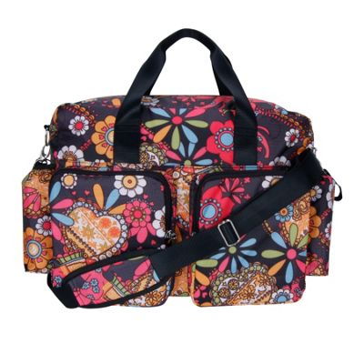 Trend Lab Bohemian Floral Deluxe Duffle Diaper Bag Bohemian Floral - Trend Lab Diaper Bags & Accessories