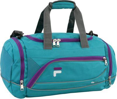 Fila Sprinter Small Sport Duffel Bag Teal/Purple - Fila Gym Duffels
