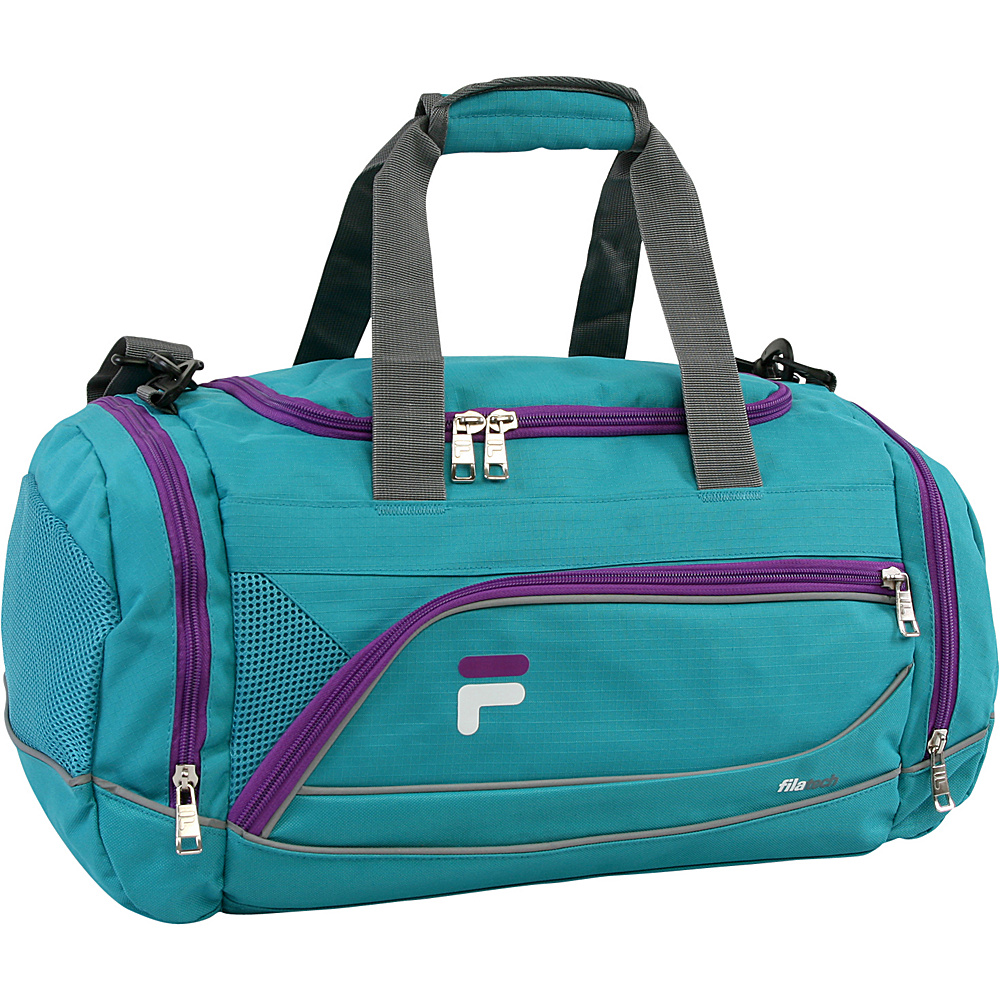 Fila Sprinter Small Sport Duffel Bag Teal Purple Fila Gym Duffels