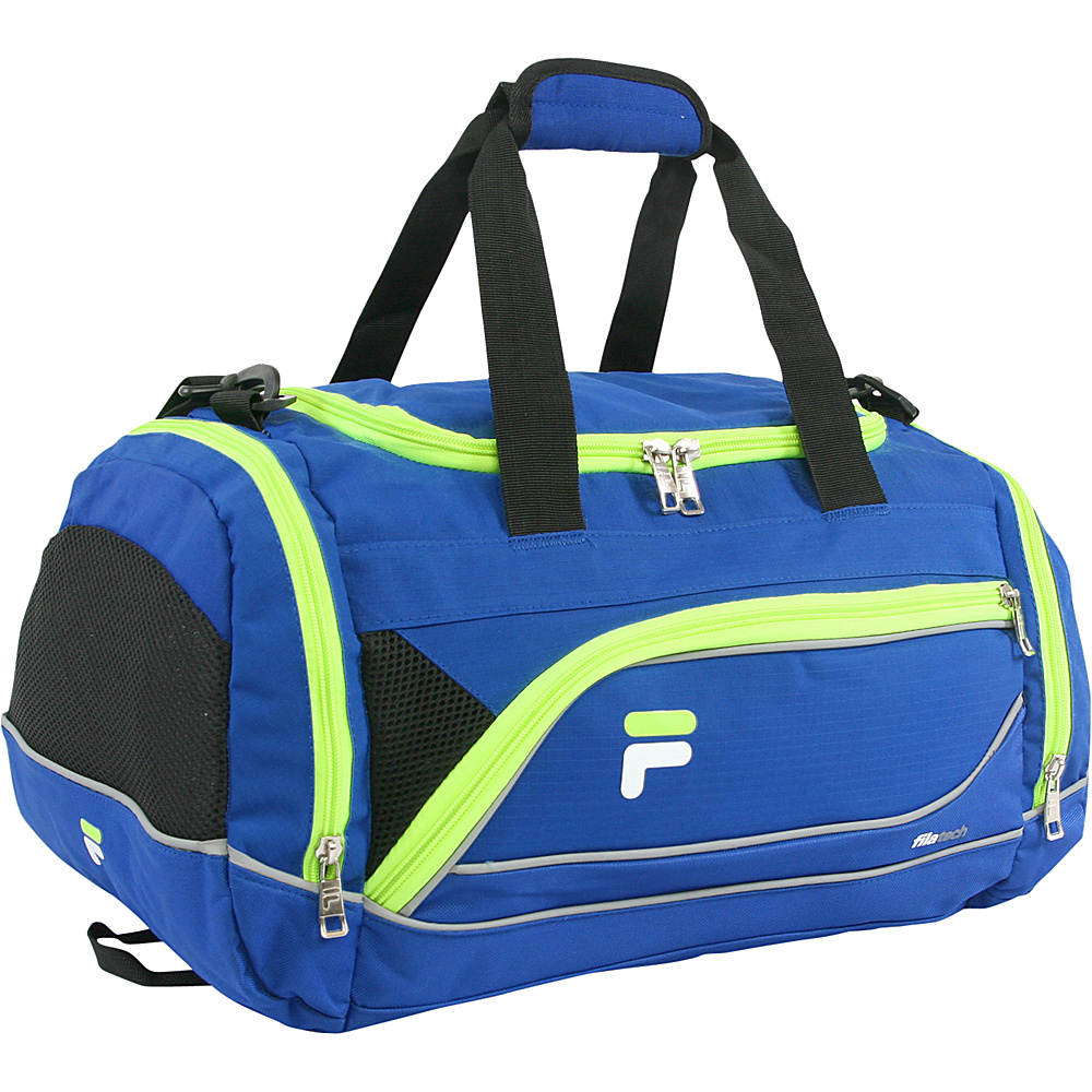 Fila Sprinter Small Sport Duffel Bag Blue Neon Fila Gym Duffels