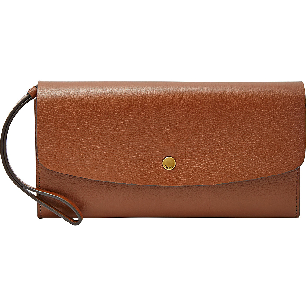 Fossil Haven Large Flap Clutch Brown - Fossil Designer Handbags - Handbags, Designer Handbags