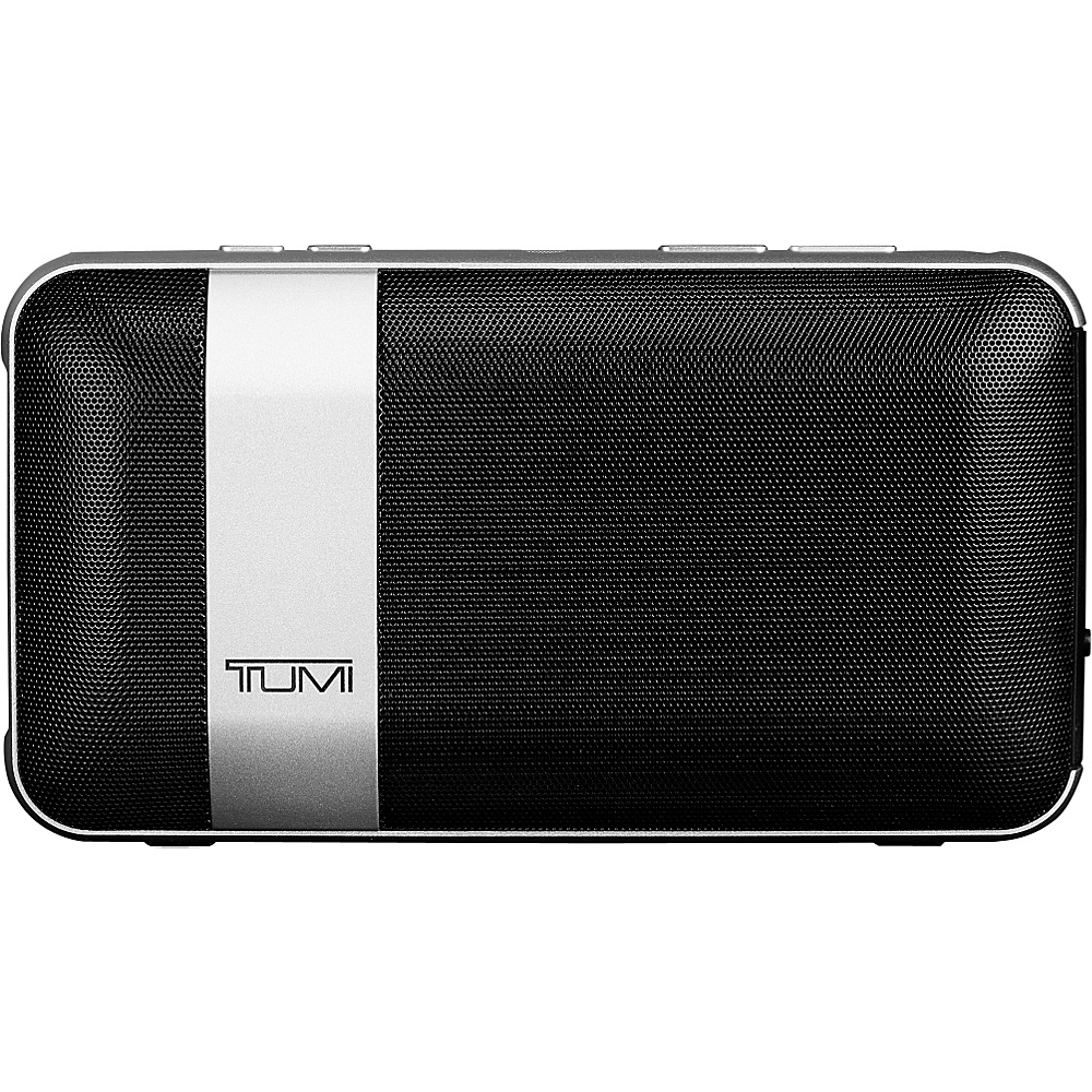 Tumi Wireless Portable Speaker with Powerbank Black with Silver - Tumi Headphones & Speakers - Technology, Headphones & Speakers