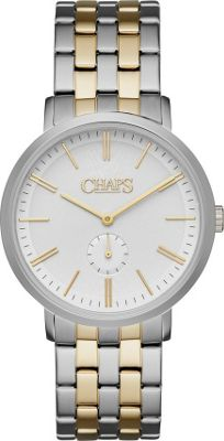 Chaps Dunham Two-Tone Two-Hand Watch Silver - Chaps Watches