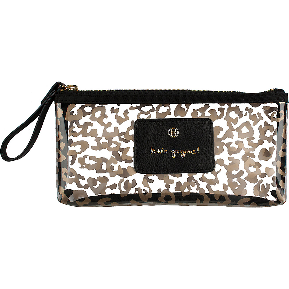 Boulevard Hello Gorgeous! Pixie Glass Bag Leopard with Black Leather - Boulevard Women's SLG Other