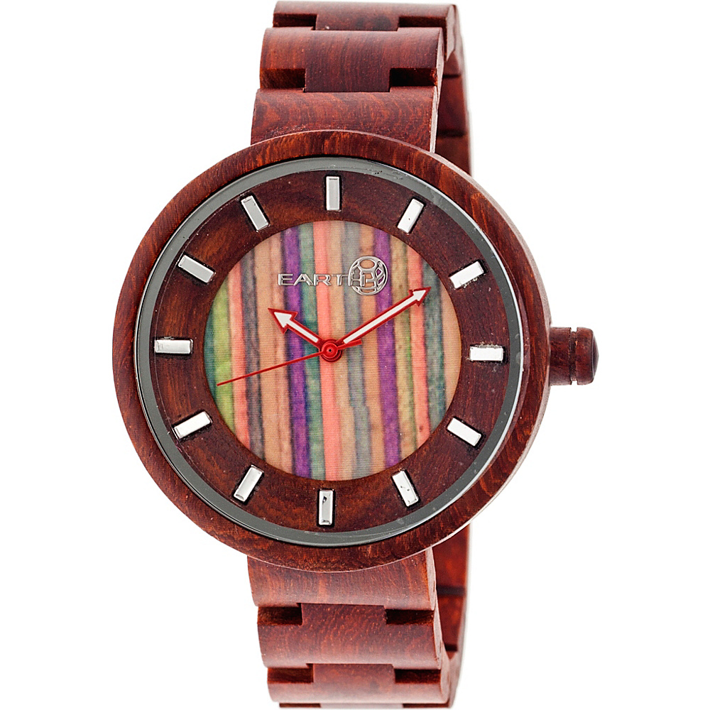 Earth Wood Root Wood Unisex Watch Red Earth Wood Watches