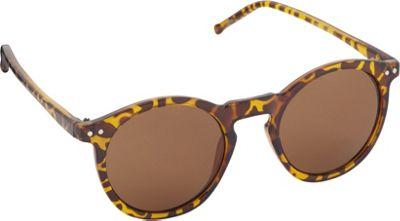 POP Fashionwear Unisex Retro Round Old School Sunglasses Tortoise/Brown Lens - POP Fashionwear Sunglasses