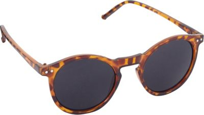 POP Fashionwear Unisex Retro Round Old School Sunglasses Tortoise/Smoke Lens - POP Fashionwear Sunglasses