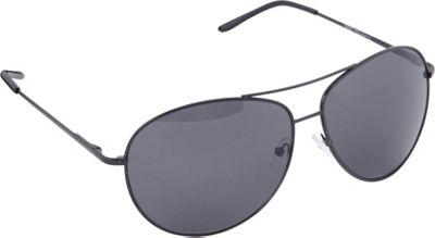 POP Fashionwear Classic Metal Aviator Spring Hinge Sunglasses Black/Smoke Lens - POP Fashionwear Sunglasses