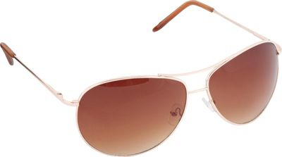 POP Fashionwear Classic Metal Aviator Spring Hinge Sunglasses Gold/Brown Lens - POP Fashionwear Sunglasses