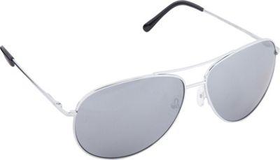 POP Fashionwear Classic Metal Aviator Spring Hinge Sunglasses Silver/Mirror Lens - POP Fashionwear Sunglasses