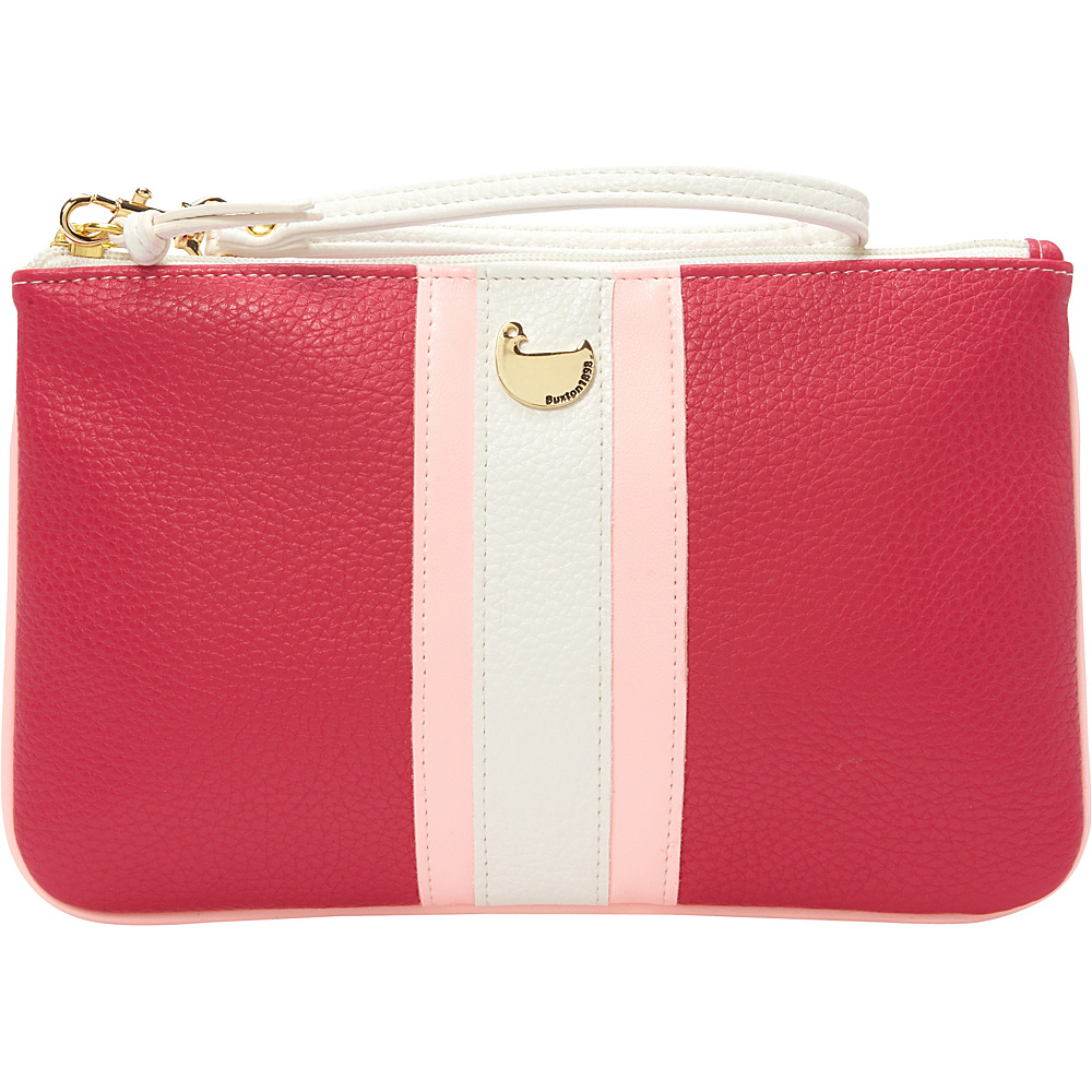 Buxton Prepster Pouch with Wristlet Fuchsia Pink - Buxton Womens Wallets - Women's SLG, Women's Wallets