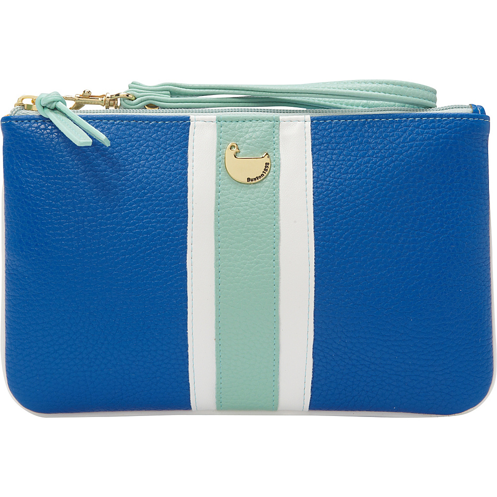 Buxton Prepster Pouch with Wristlet Strong Blue - Buxton Womens Wallets - Women's SLG, Women's Wallets