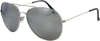 CB Sport Aviator Sunglasses Silver with Silver Mirror Lenses - CB Sport Sunglasses