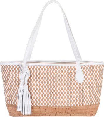 BUCO Small Cork Tote White - BUCO Leather Handbags