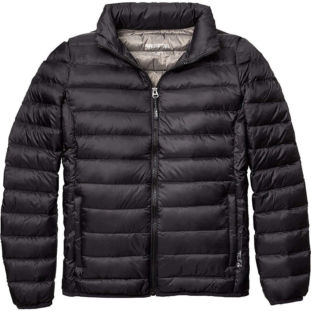 Tumi Mens Patrol Packable Travel Puffer Jacket 2XL - Black - Tumi Mens Apparel - Apparel & Footwear, Men's Apparel