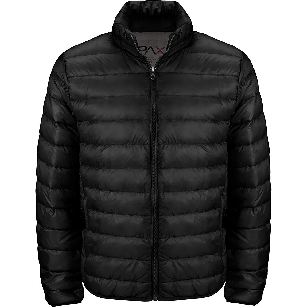 Tumi Mens Patrol Packable Travel Puffer Jacket XL - Black - Tumi Mens Apparel - Apparel & Footwear, Men's Apparel