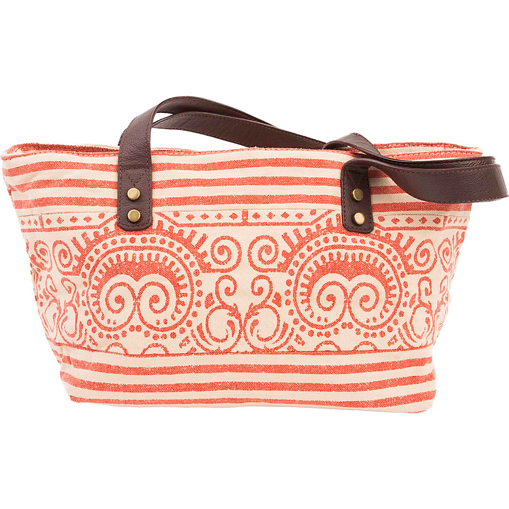 Bella Taylor Mini Tote Amber Orange Bella Taylor Fabric Handbags