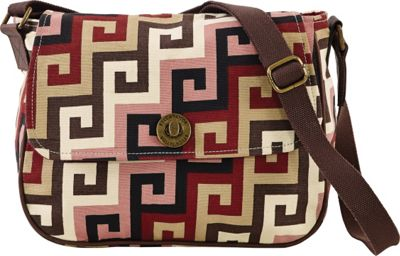 Image of Bella Taylor Ambrose Messenger Crossbody Pink - Bella Taylor Fabric Handbags