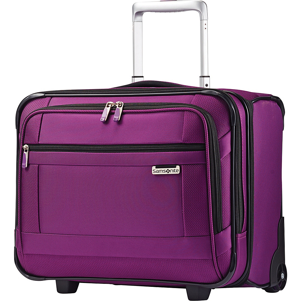 Samsonite SoLyte Wheeled Boarding Bag Purple Magic Samsonite Softside Carry On