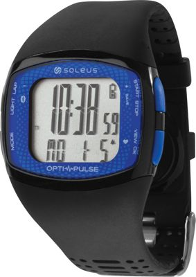 Soleus Pulse Rhythm BLE+HRM Watch Black/Blue - Soleus Wearable Technology
