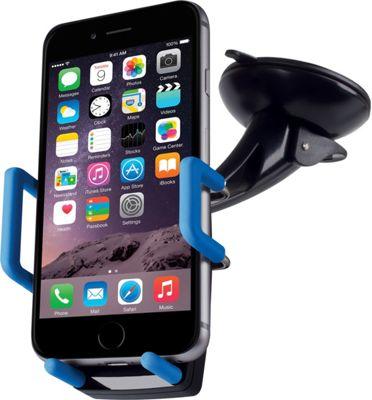 Merkury Innovations Universal Car Windshield Dashboard Mount Pc Rubber Black/Blue - Merkury Innovations Car Travel
