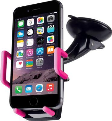 Merkury Innovations Universal Car Windshield Dashboard Mount Pc Rubber Black/Pink - Merkury Innovations Car Travel