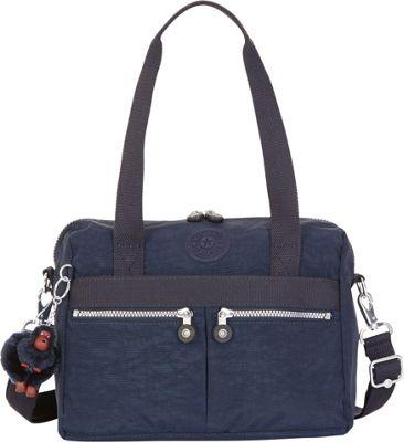 Kipling Klara Satchel True Blue - Kipling Fabric Handbags