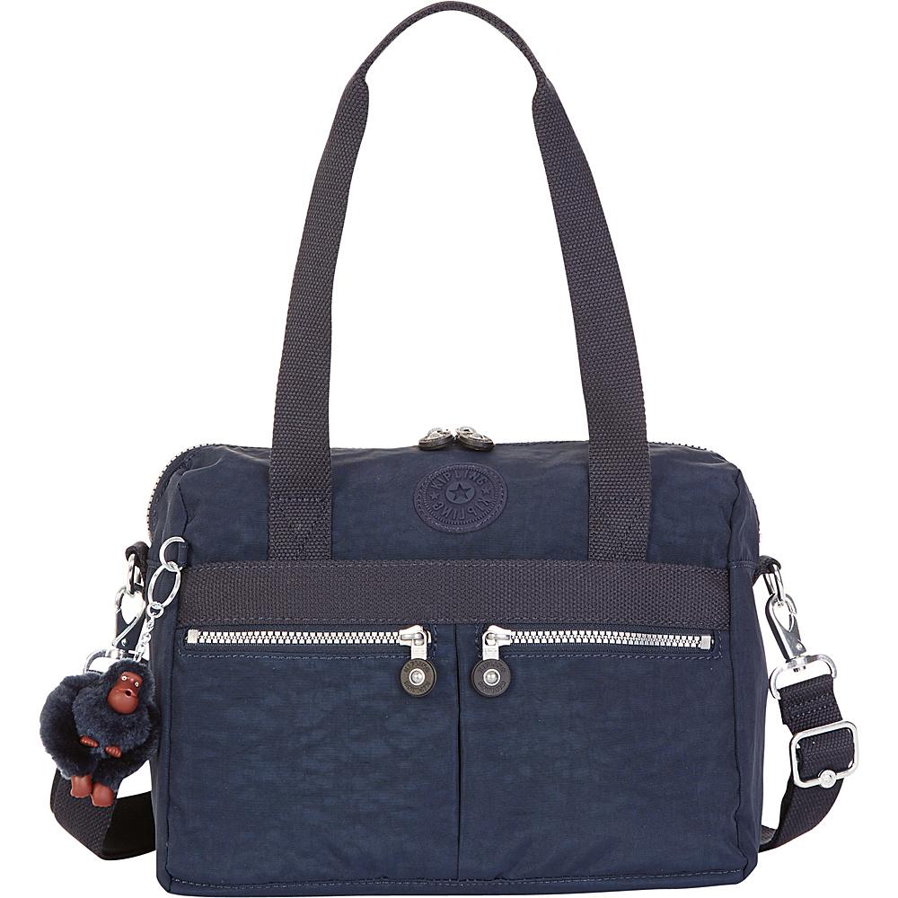 Kipling Klara Satchel True Blue Kipling Fabric Handbags