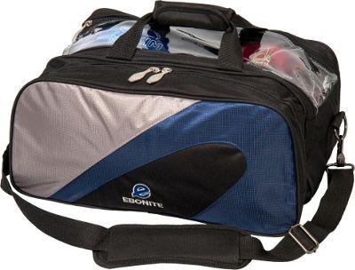 Ebonite Team Ebonite 2-Ball Tote Navy/Silver - Ebonite Bowling Bags