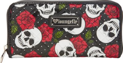 Loungefly Loungefly Skull and Roses Patent Wallet Red/Multi - Loungefly Women's Wallets