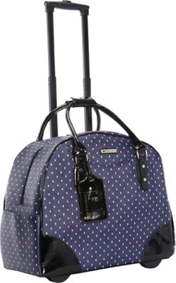 Cabrelli Debbie Dot 15 inch Laptop Rollerbrief Navy - Cabrelli Wheeled Business Cases