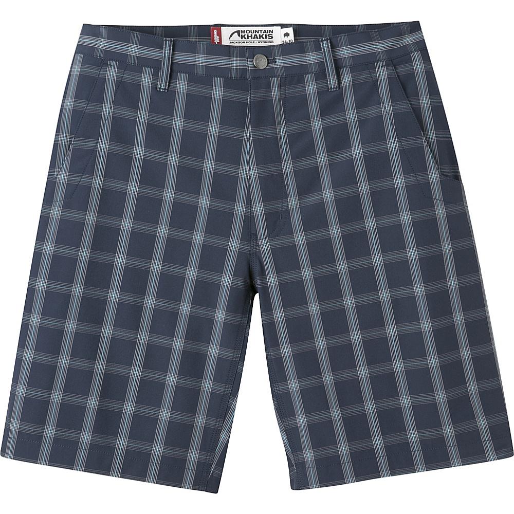 Mountain Khakis Mulligan Shorts 31 - 10in - Navy Plaid - 30W 10in - Mountain Khakis Mens Apparel - Apparel & Footwear, Men's Apparel
