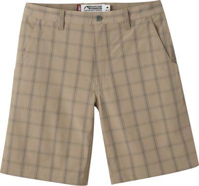 Mountain Khakis Mulligan Shorts 35 - 10in - Retro Khaki Plaid - 30W 10in - Mountain Khakis Men's Apparel