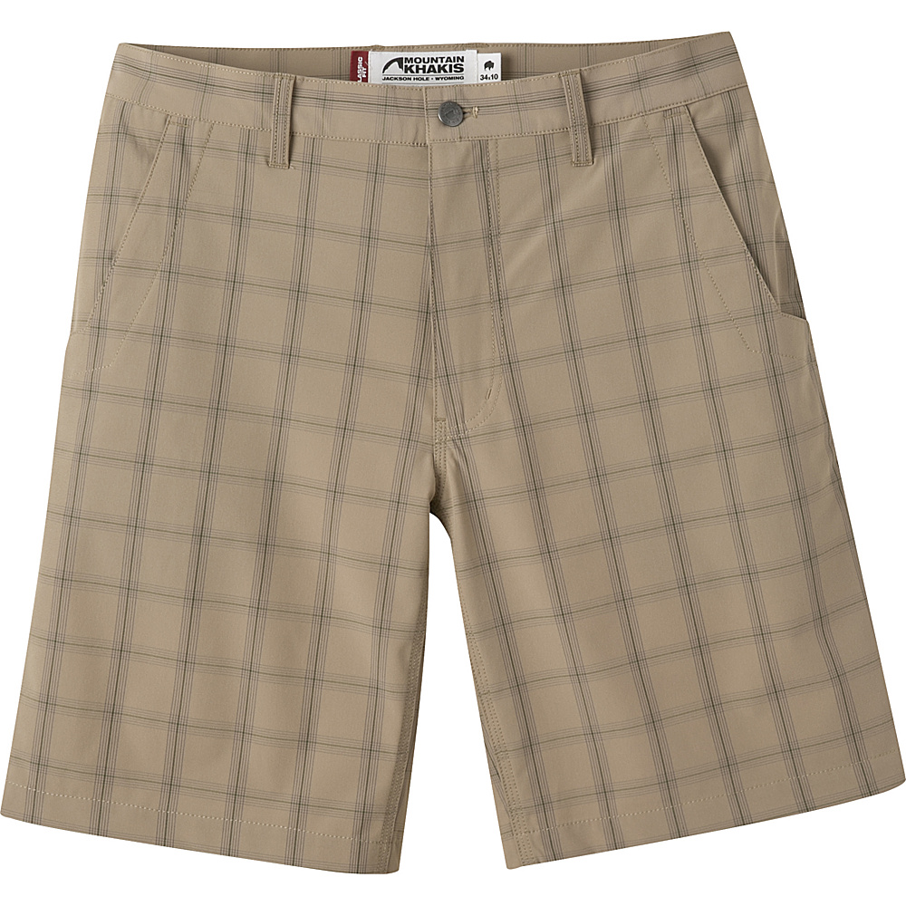 Mountain Khakis Mulligan Shorts 35 - 10in - Retro Khaki Plaid - 30W 10in - Mountain Khakis Mens Apparel - Apparel & Footwear, Men's Apparel