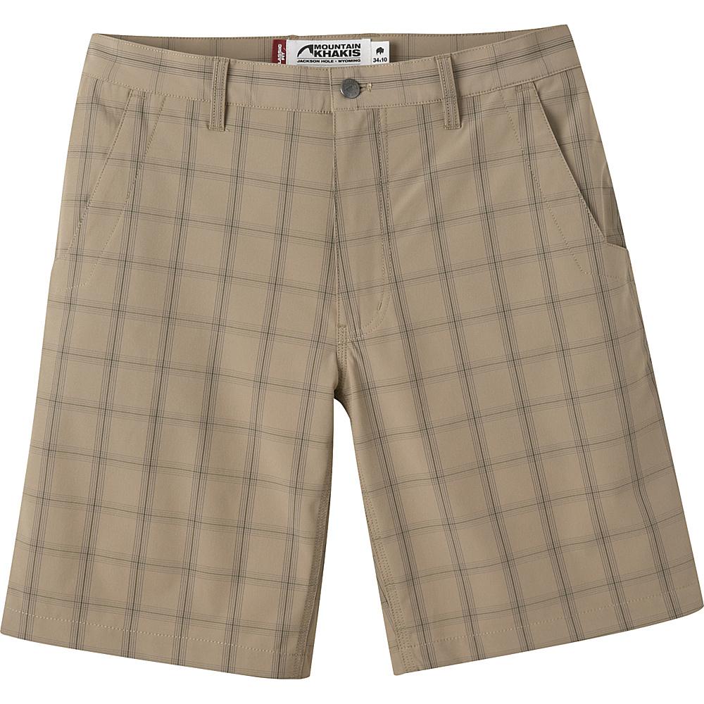 Mountain Khakis Mulligan Shorts 44 - 10in - Retro Khaki Plaid - 30W 10in - Mountain Khakis Mens Apparel - Apparel & Footwear, Men's Apparel