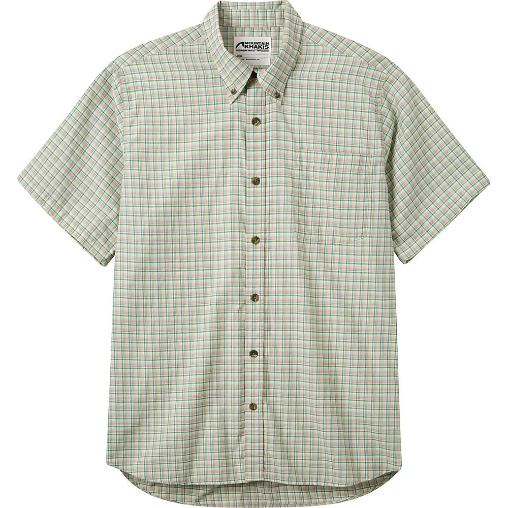 Mountain Khakis Spalding Gingham Short Sleeve Shirt XL - Putty - Mountain Khakis Mens Apparel - Apparel & Footwear, Men's Apparel