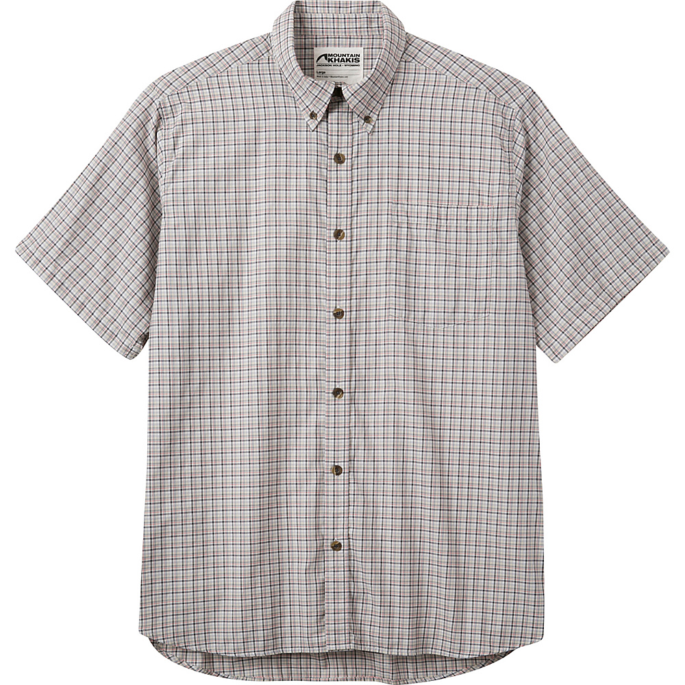 Mountain Khakis Spalding Gingham Short Sleeve Shirt L - Cirrus - Mountain Khakis Mens Apparel - Apparel & Footwear, Men's Apparel