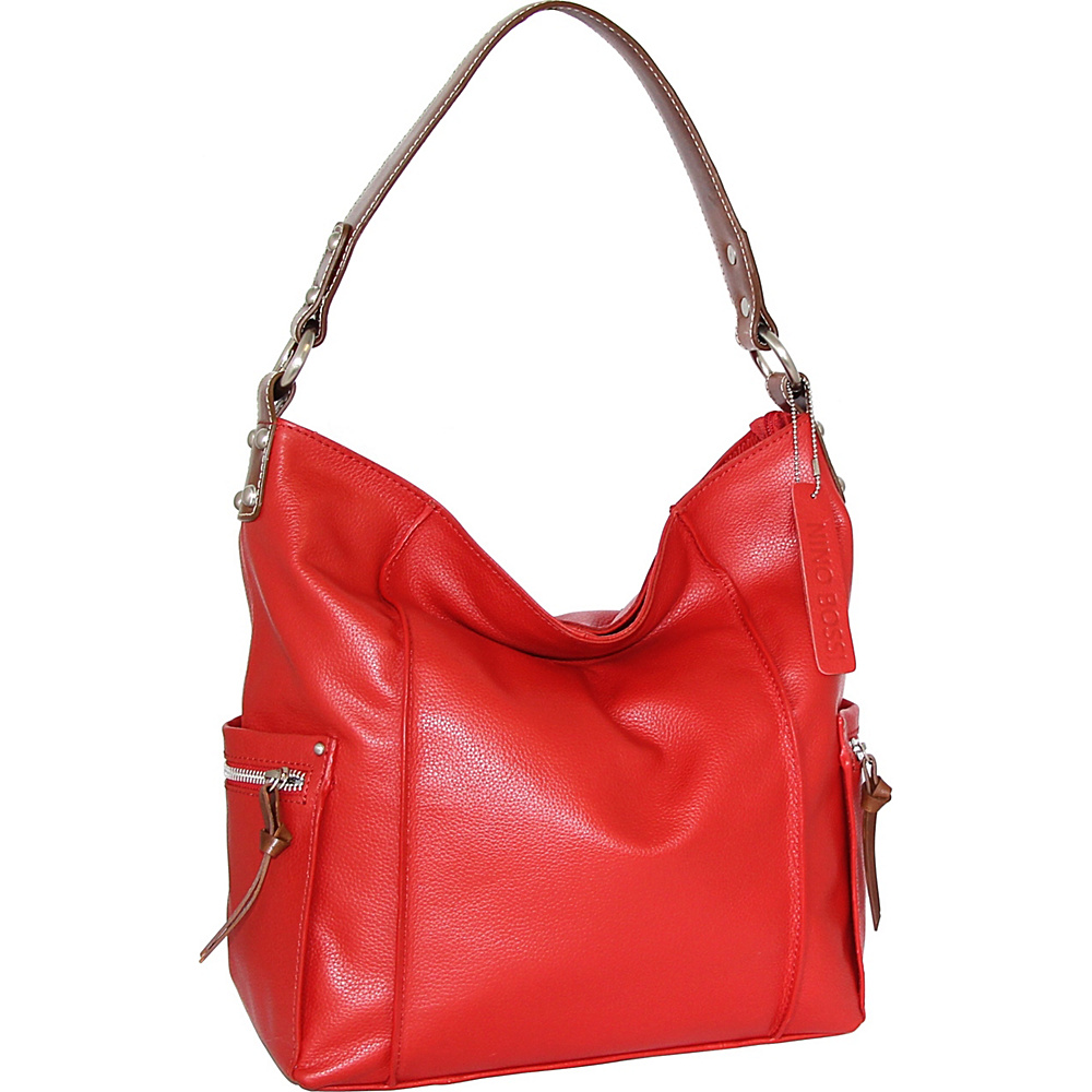 Nino Bossi Sweet Caroline Shoulder Bag Tomato - Nino Bossi Leather Handbags - Handbags, Leather Handbags